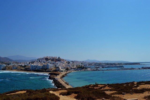village Naxos en Grèce