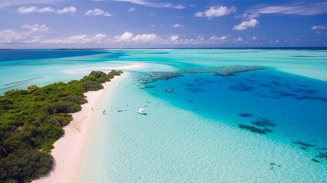 Les maldives vue aérienne