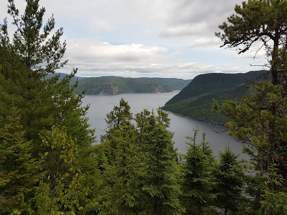 Fjord au Canada